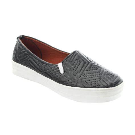 Sepatu Wanita Slip On 072 jual yutaka slip on sepatu wanita hitam harga kualitas terjamin blibli