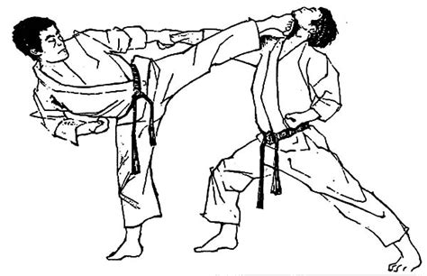 coloring page karate free coloring pages of karate