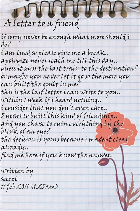 a letter to a friend myideasbedroom