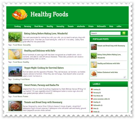 templates for blogger cooking healthy food blogger template blog layouts for blogspot