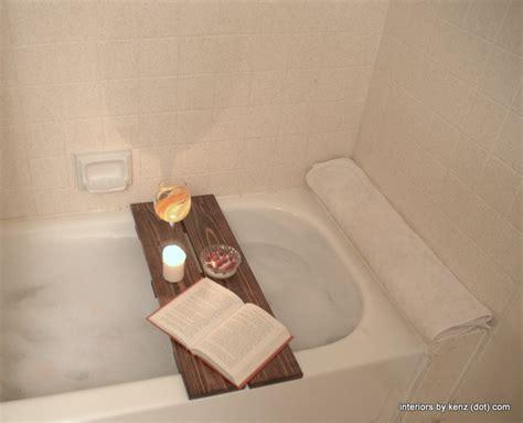 diy shower caddy diy spa tub caddies decorating your small space