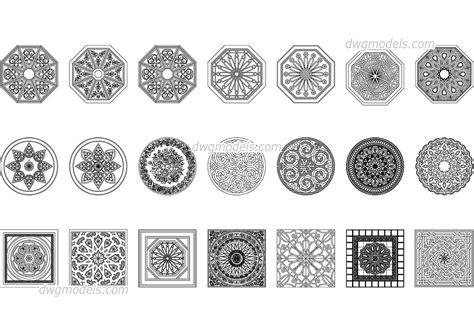 islamic pattern autocad free download arabic pattern dwg free cad blocks download