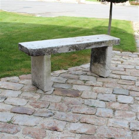 stone garden bench with back stone garden bench