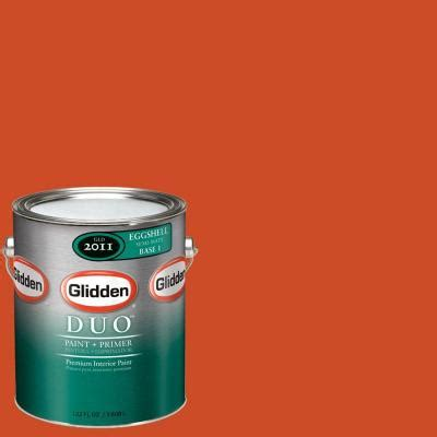 glidden team colors 1 gal nfl 172b nfl denver broncos orange eggshell interior paint and
