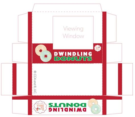 free printable elf on the shelf donut box 153 best elf things i ll probably never do except for