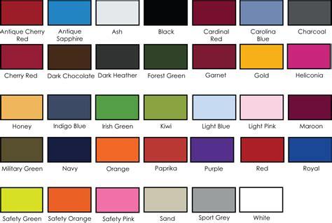 gildan shirt color chart gildan color chart 5050 gildan dryblend 6 oz 50 50