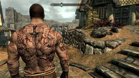 Yakuza Tattoo Skyrim   skyrim мужской тату аж yakuza tattoos of potema aka