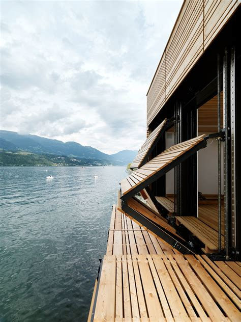 Sailboat Windows Designs Boat S House At Millst 228 Tter Lake In Seeboden By Mhm Architects