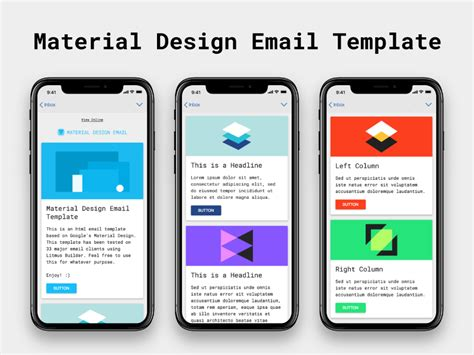 material design html it 25 best newsletter email templates for free download