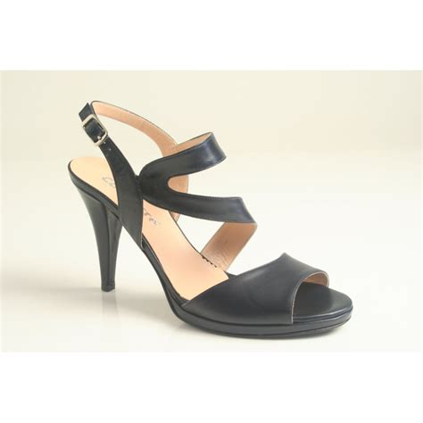 navy blue sandals calpierre calpierre navy blue leather heeled sandal with