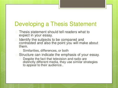 Comparative Analysis Essay Thesis by Comparative Thesis Statement Exle Frudgereport954 Web