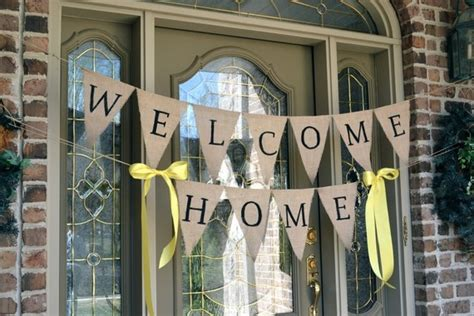 welcome home decorations welcome home burlap banner welcome home banners welcome