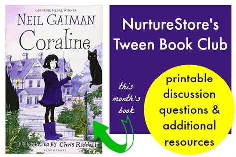 themes in coraline book coraline book club resources and teaching guide nurturestore