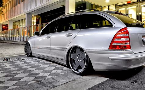 bagged mercedes wagon mercedes benz s203 wagon on k3projekt 5sg wheels benztuning