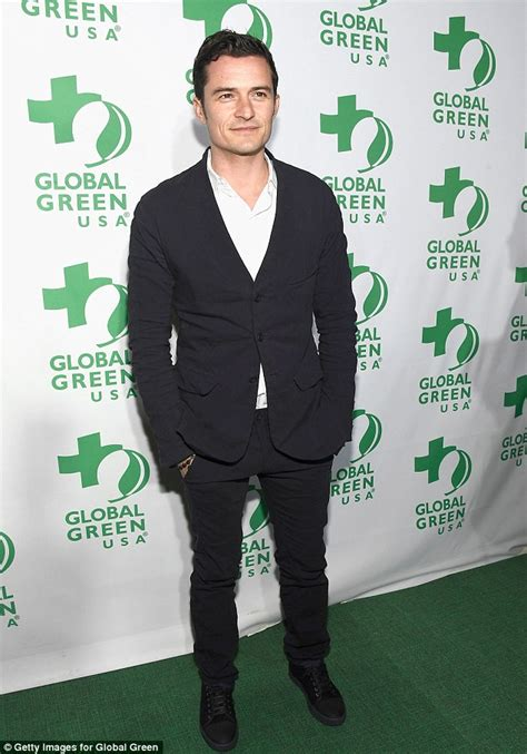 orlando bloom easy orlando bloom hits the global green pre oscar party stag