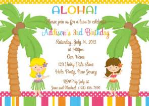 party invitations awesome hawaiian party invitations