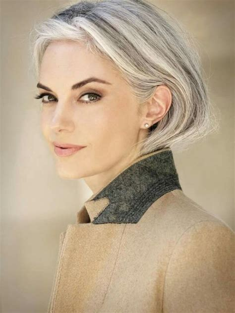 short grey hair for 40s women pinterest 70 grey hair styles ideas and colors my new hairstyles