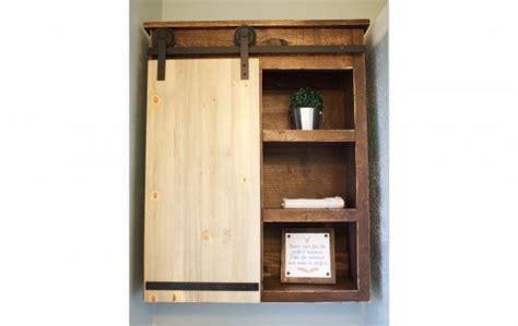 Sliding Barn Door Bathroom Cabinet Shanty 2 Chic Diy Sliding Cabinet Door