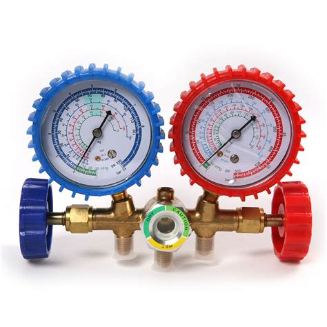 Manifold Gauges r12 r22 r134a hvac a c refrigeration charging service manifold set kit ebay
