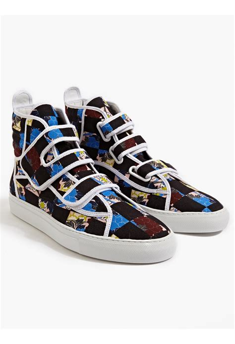 raf simmons sneakers raf simons checkboard sneakers in multicolor for lyst