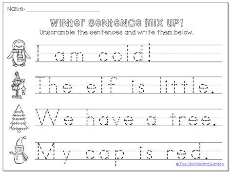 Kindergarten Sentence Worksheets by Picture Sentence Worksheets For Kindergarten Fix The