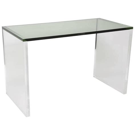Acrylic Desk L by Two Toned Acrylic Desk In Green And Clear For Sale At 1stdibs