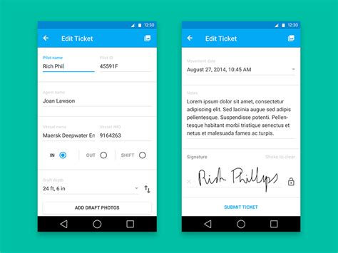 tutorial android form material design form by gabe will dribbble