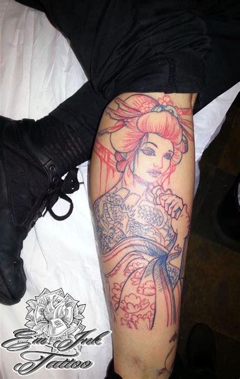blue geisha tattoo japanese geisha and blue geisha
