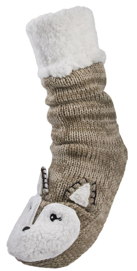 knitted slipper socks womens reindeer knitted boots slipper socks ankle booties