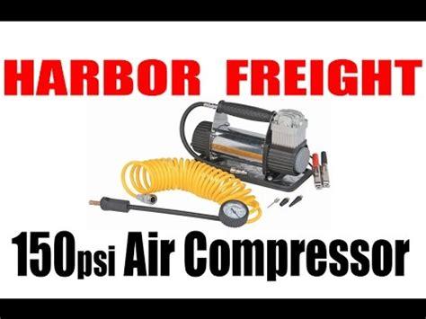 harbor freight volt psi air compressor review test