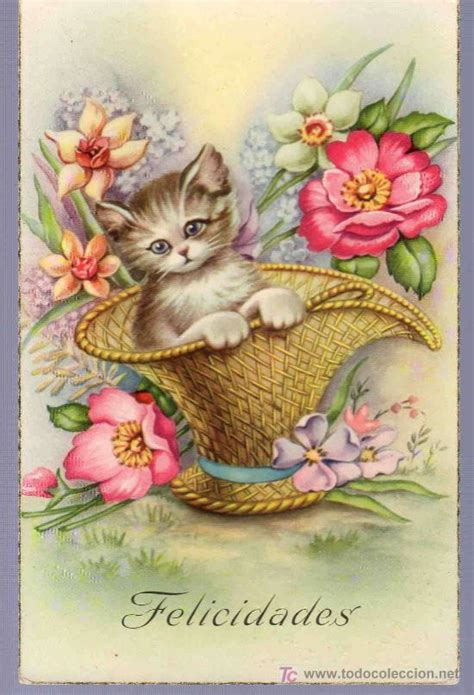 imagenes vintage animales tarjeta postal antigua de animales comprar postales