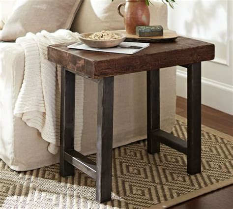 Pottery Barn Griffin Table by Griffin Reclaimed Wood Side Table Pottery Barn