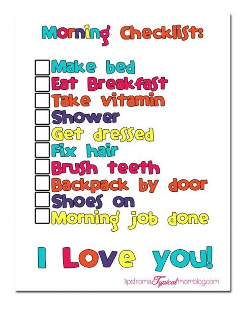 Im Back In Philadelphia After My Morning With Ma by Back To School Morning Routine Checklist With Free Printable
