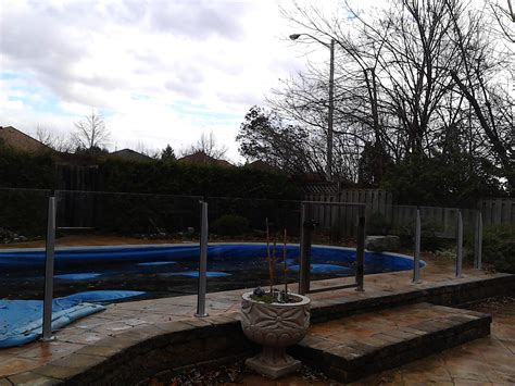 glass toronto glass railings for pools in the toronto area