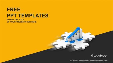 business graph in puzzle powerpoint templates