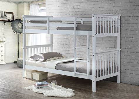 white wood twin bed frame bunkbed in white solid white pine wood twin bunk bed frame