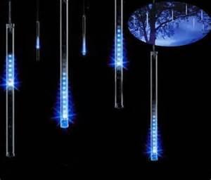 falling rain drop icicle lights meteor shower falling drop icicle snow fall led tree string light ebay