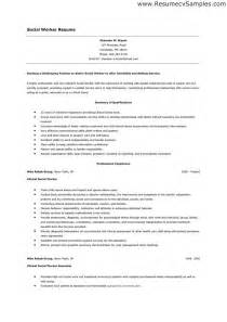 entry level social work resume best resume exle