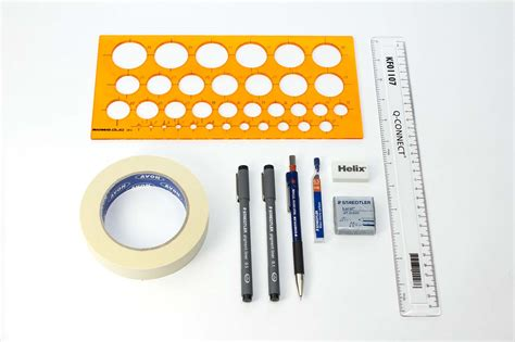 Technical Drawing Equipment kit (photo is for illustration purposes only, please see full
