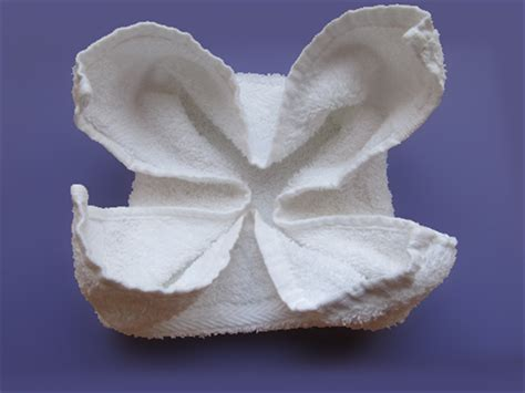 Washcloth Origami - how to fold a washcloth into a flower