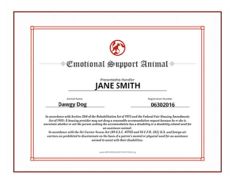 Support Letter For Priority Housing Emotional Support Animal Id Service Certifications