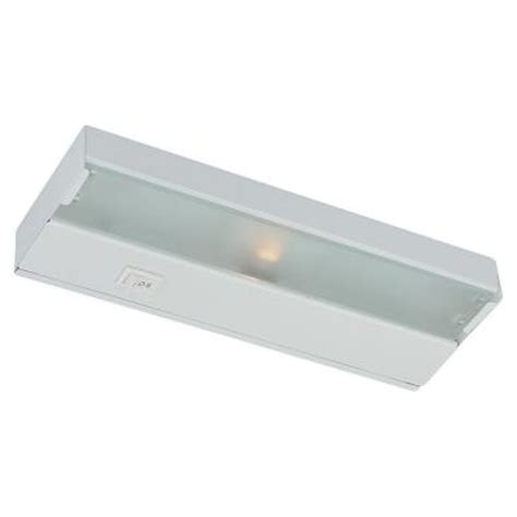 Thomas Lighting 18 In Xenon Matte White Under Cabinet Home Depot Cabinet Lights