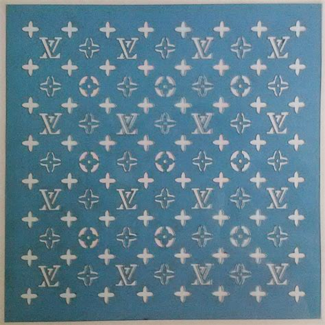 louis vuitton pattern amazon com louis vuitton stencil for cakes and all