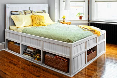 Build A Bed Frame With Storage How To Build A Storage Bed This House