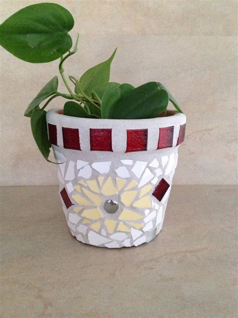 Mosaic Planters by Mosaic Flower Pot Mosaic Tile Outdoor Planter Indoor