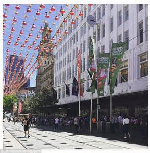 buskers told to avoid standing near families looking at myer christmas window daily mail online