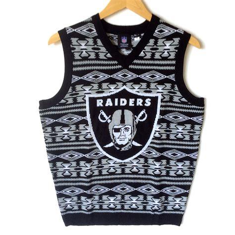 raiders light up sweater nfl sweater raiders sweater vest