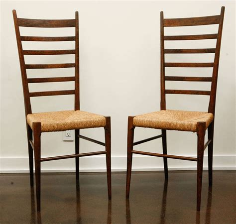 ladder back chairs with woven seats pair of italian ladder back chairs with woven seats at 1stdibs