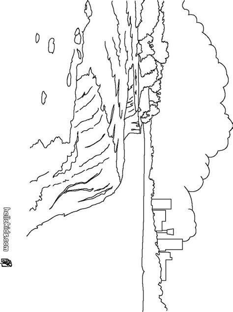 coloring page of niagara falls niagara falls coloring page places to go pinterest