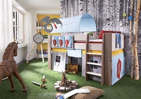 spielburg kinderzimmer hochbett kinderbett ritter tunnel vorhang kinderzimmer